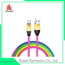 Ebay Hot Sale Rainbow Câble USB Câble de charge des téléphones mobiles