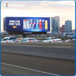 Visualizzazione di LED esterna P10 del tabellone per le affissioni di alluminio chiaro del Governo LED grande