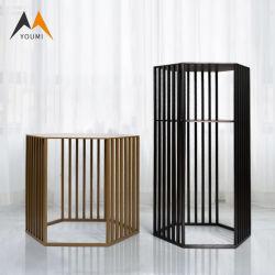 Golden salle de séjour un canapé-coin latéral Table Table à café de métal