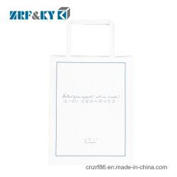 Logotipo impresso personalizado Machine-Made Saco de papel Kraft Alimentar branco