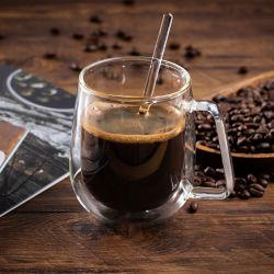 Borosilicat-doppel-wandiges Glascup für Tee, Espresso, Kaffeetasse