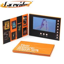 Document de conception personnalisée de gros Media Player Affichage LCD 7 pouces de l'impression Brochure Brochure Carte-cadeau vidéo