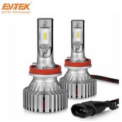 Hot-Selling LED haute puissance lampe de projecteur E8 H11 Phi-Zes pour auto voiture à faisceau unique