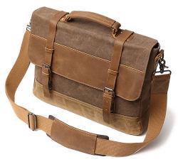 Одно плечо Canvas деловые поездки в портфель портфель переносного компьютера ноутбук Crossbody документы Bag дамской сумочке (CY3535)