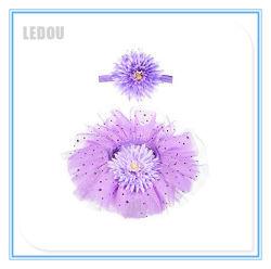 Neue Form-Baby-Fußleisten-Kind-Kind-kleidet SäuglingsBallettröckchen Dancewear Fußleisten-Ballett Kostüm-Tulle-Sonnenblume Pettiskirt