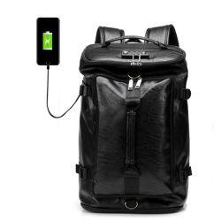 Moda Yulongsheng mochilas Anti Theft Backpack PU NOTEBOOK DE COURO 17 polegada 15.6 Volta Packs homens Casual Sacos de carregamento USB Bagpack Estilo