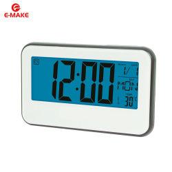 Electrónica LCD Despertador com termómetro de calendário Backlight