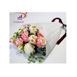 대나무 곡물 비 길쌈된 직물 꽃 포장지