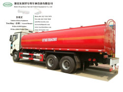 Camion diesel dell'autocisterna di FAW (camion di olio combustibile di rifornimento di carburante di 24m3 Bowser con il combustibile Despenser del flussometro delle pompe di olio per servizio di porta in porta espresso del combustibile)