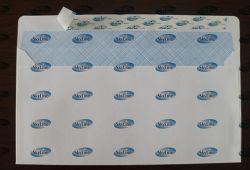 """4""""x9"""" Белый Wood-Free Wallet конверты с тонированным потребления и P&S закрытия"""