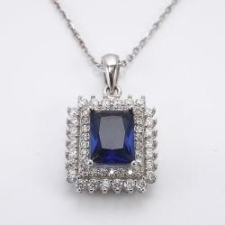 Populares de los grandes mayoristas de piedras preciosas joyas joyería personalizada Regalo Collar Colgante de plata de ley 925 de la mujer