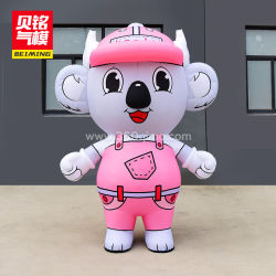 Urso Koalas Branco Rosa personalizada traje inflável para entretenimento