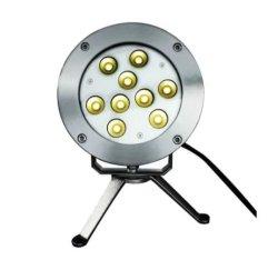 Os LEDs de 9 subaquático Refletor submersível para o aquário de água Jardim Piscina Lagoa luz da fonte do Tanque