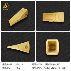 نقاط أسنان الأسنان القياسية للجرافة 14527863 من الفئة Volvo Ec140، ومأسنان حفر جرافة الحفار واللودر، ومهايئ، وقطع غيار ماكينة التشييد