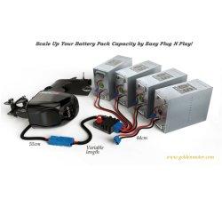 48V 50AH de Navulbare Pakken van de Batterij LiFePO4 lithium-Ion/Li-Ion/Lithium voor Motorfiets Electirc/Autoped/de Fiets/Citycoco/de Voertuigen van de Fiets