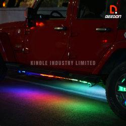 多彩の追跡の自動ランプリモート・コントロールLED車の内部の外部の自動車はサポートされるカラー音楽同期信号の追跡を用いる滑走路端燈をつける