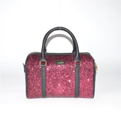 Fashion Lady Boston Bag Paillettes brodées soir Sac avec paillettes avant