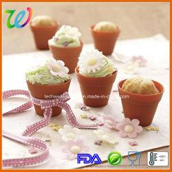 Potenciômetro de flores de Silicone Resuable Cupcake Bandeja para assar