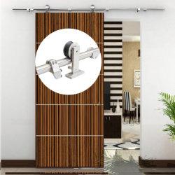 Un design moderne en acier inoxydable intérieur en bois de grange la quincaillerie de porte coulissante de porte