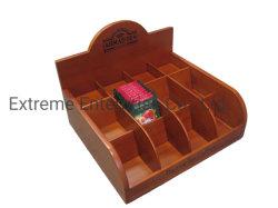 Meilleurs marron clair en bois de feuillus artisanaux Stand pour les sachets de thé et de sachets de thé Boîte de rangement et de la poitrine et titulaire de l'organiseur avec 12 compartiments