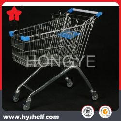 100L het Winkelen van het Metaal van de supermarkt Karretje met de Zetel van de Baby