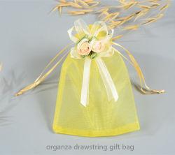 Cordón de organza bolsa de regalo con flores Bowknot