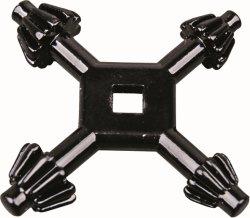 十字様式亜鉛合金の4方法ユニバーサルドリルのチャックのキー