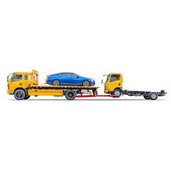 5 トン傾斜トレイ回収車両 (ユーロ 6 レスキューフラットベッドカーキャリアけん引トラック)