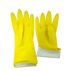 El amarillo de 35g-90g/Par guantes de goma de látex hogar impermeable