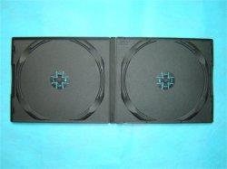 Caixa de DVD PP PP CAIXA DE DVD capa do DVD de PP 10mm curto Preto duplo