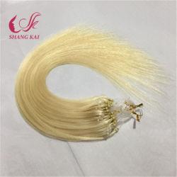 100% virgem humano Remy Micro Ring Extensão de cabelo