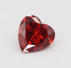 Forme de coeur de haute qualité 6x6mm taillés à la machine de pierres précieuses de couleur grenat desserrés