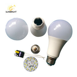 E27 85-265V 5W 7W 9W LED Birnen-Rohstoff-Verteiler