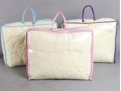 Sacchetto di plastica libero della coperta della chiusura lampo del PVC del vinile stampato marchio su ordinazione