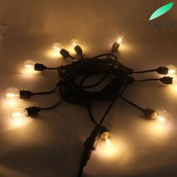 Nouveau ! G40 étanches IP65 LED LED Lampe à incandescence Chaîne pour la décoration de vacances