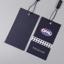 Pendurar roupa personalizada de tags para roupas com a vedação plástica