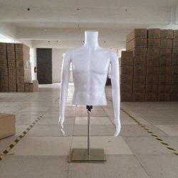 Белый Мужской презентационный манекен туловища на половину тела
