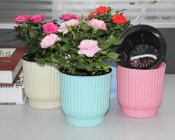 UV rond en plastique PP coloré de l'autonomie de l'arrosage pot de fleurs