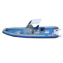 Luxury Alemanha Rhib 860 28,7 ft costela de alumínio Hypalon Orca bote barco inflável