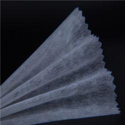 fabbrica scrivente tra riga e riga fusibile non tessuta del fornitore del fornitore della colla di larghezza 100-150cm Pes/PA di 30GSM 100%Polyester del doppio di legame termico pulibile asciutto lavabile del PUNTINO