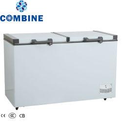 Precios baratos de gran congelador horizontal superior de la puerta Opem