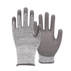 Livello rivestito 5 dei guanti dell'unità di elaborazione dell'anti guanto resistente del taglio della vetroresina di Hppe