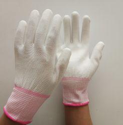 Hot vendre 13G blanc Polyester enduit PU Gants de travail de la sécurité gant de travail de l'industrie