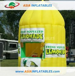 Aufblasbarer Zitrone-Stand, aufblasbare Limonade-Dosen, die Stand-Stab-Zelt bekanntmachen