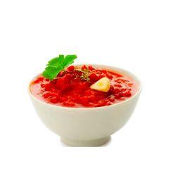 Salsa al peperoncino rosso aromatizzata all'aglio