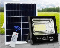 60W 운동 측정기 LED 태양 가벼운 옥외 정원 도로를 위한 램프에 의하여 강화되는 거리 플러드 빛