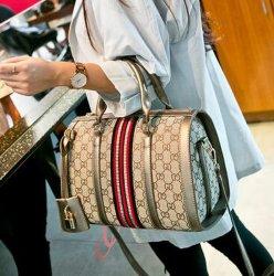 El diseñador de la marca de moda Dama cuero pu Boston bolsos (XP3908)