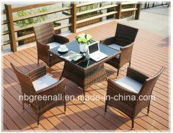 Bistro Jardin meubles de salle à manger en plein air en osier en rotin Set