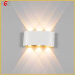 LEDの壁ランプの屋内および屋外IP65 LEDの壁ライト壁ランプ3Dの壁パネルのための新しいベッドわきのスタンドのセリウムライトアルミニウムRGB LED壁に取り付けられたランプ