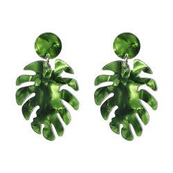 Commerce de gros 2018 Haut de la conception mode féminine Accessoires Bijoux Alooy feuille de cuivre de l'acrylique Earrings